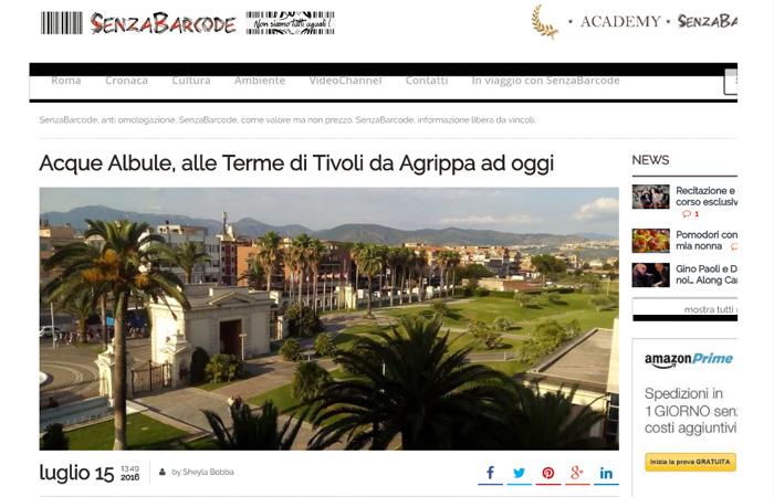 Acque Albule, alle Terme di Tivoli da Agrippa ad oggi