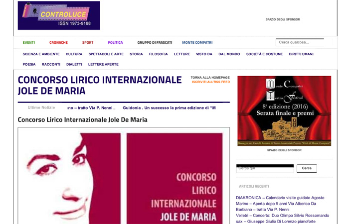Concorso lirico internazionale Jole De Maria