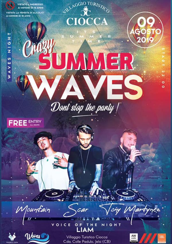 Crazy summer, waves