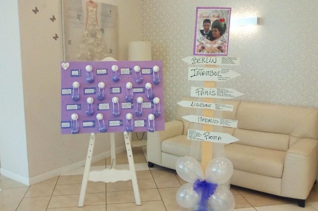 Preferenza Idee per i nomi dei tavoli Ricevimenti di nozze a Matera WG44